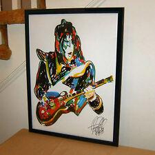 Ace Frehley, Kiss, Lead Guitar, Guitarist, Spaceman, Rock, 18x24 POSTER w/COA G