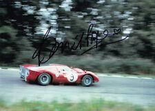 David Piper Hand Signed Ferrari Photo 7x5.