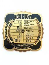 VTG Freemason Metal Pocket Perpetual Calendar Cross Emblems 1951-1978 Masonic