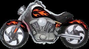 MOTORCYCLE CUSTOM BLACK HARLEY DAVIDSON STYLE MOTORBIKE BIKE LARGE BALLOON