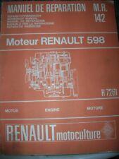 RENAULT TRACTEUR R 7261 MANUEL REPARATION MR 142 OCCASION ORIGINE D'EPOQUE