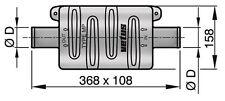 VETUS PLASTIC MUFFLER TYPE MP40 ( for small inboard engine Vire 6/7 etc)