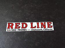 old school bmx, Redline Racing Frames sticker