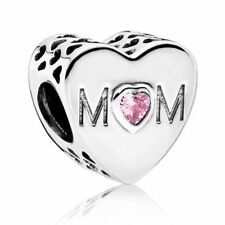 New Genuine Authentic Pandora Silver Mother Heart Charm Item No. 791881PCZ