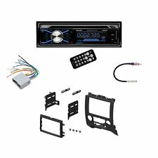 Boss In Dash Car Stereo Audio Receiver + Mounting Kit + Wire Harness + Adapter