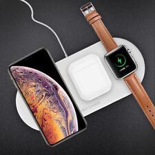 3In 1 Qi Inalámbrico Cargador Pad de Carga Rápida Para Iphone X/8 de Apple Watch iWatch AA