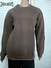 SWEAT MOLLETONNE ZARA MEN'S AVEC COUDIERES MARRON  T M OU 14/16 ANS IMPECCABLE