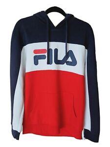BNWT Fila hoodie Hooded Jumper unisex M Navy/red/white. RRP $90
