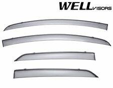 WellVisors Side Window Visors W/ Black Trim For 09-11 Toyota Yaris Hatchback 4Dr