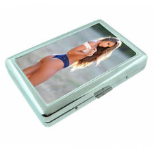 Farmers Daughter Pin Up Girls D8 Silver Metal Cigarette Case RFID Protection