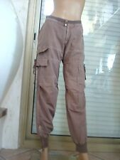 JEANS /JOGGING AMERICAN RETRO TAILLE TRICOT CONFORTABLE + TOP C. NEUF TS 36/38