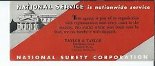 MG-078 - Five National Surety Corporation, Wheeeling WV Advertising Ink Blotters