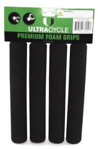"""Ultracycle Cruiser & Road Foam Grips Black 8.5"""" Bike"""