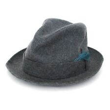 Vintage Biltmore Fedora Hat Gray w/ Feather Size 6 3/4  54cm Cap Made in Canada