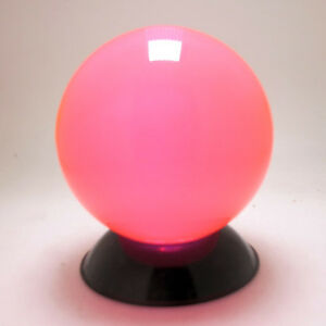 Clear Candy Pink Translucent Acrylic contact Juggling ball 70mm 220g + Pouch