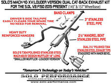 """Ford F-150 Cat Back Dual Exhaust Louder  2015 - 2016 157"""" W.B. Solo Performance"""