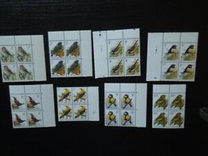 G1227  BELGIUM   1992  BIRDS 8 X  BLOCK  OF  4  MNH