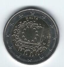 Pièce 2 euros commémo Malte 2015 (30 ans Drapeau Européen)