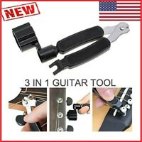 NEW 3 in 1 Guitar Winder String Cutter Pin Puller Tool for Guitar Banjo Mandolin