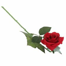 1 Realistic Artificial Rose Flower Wedding Home Decor Crafts - Red F6C7