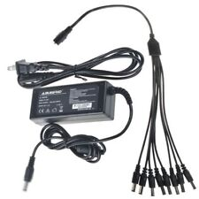 12V 5A Dc Adapter +8 Split Power Cable for Sannce Cctv Security Camera Dvr Power
