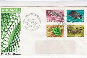 Papua New Guinea 1972 Reptiles FDC VGC