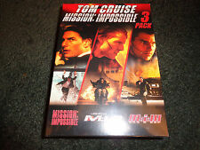 TOM CRUISE MISSION IMPOSSIBLE 3 Pack:1,2,3 like you've never seen before!!-DVD
