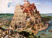 Pieter Bruegel the Elder - The Tower of Babel (Vienna) Art Poster, Canvas Print