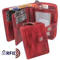 Damen Geldbeutel Damenbörse Geldbörse Börse Portemonnaie Kartenbörse Leder RFID