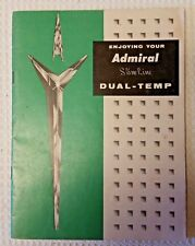 Vintage Manual for ADMIRAL Slim-Line Dual-Temp Refrigerator