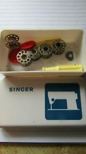 Singer Sewing Machine Plastic Storage Box with some bobbins etc