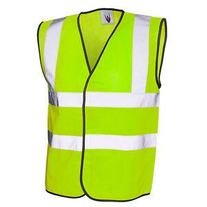 Yellow Hi Vis Vest High Visibilty Waistcoat Site/ EU Approved Hi Viz S-XXXXL
