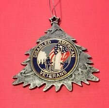 DISABLED AMERICAN VETERANS DAV CHRISTMAS TREE ORNAMENT PERSONALIZED & SHIP FREE