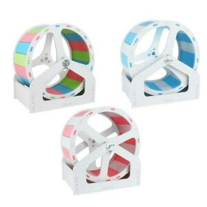 Hamster Running Exercise Wheel Silent Runner Toy with Adjustable Stand Spinner