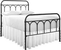 White Bed Skirts 100% Microfiber Dust Ruffle Gather Bedskirts Split Corner Style