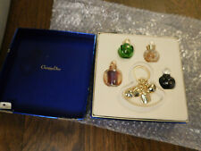 Vtg Christian Dior Les Parfums de Dior 4 mini perfume bottle set charm key chain