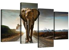 Elephant Canvas Art Prints - African Wildlife Canvases for Living Room