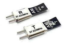 27mhz Transmitter Radio Receiver RC Crystal Pair 27 mhz 27.025 TX & RX Black AM