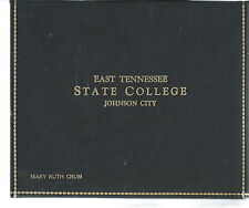 NM-023 - 1945 Diploma East Tennessee State College, Johnson City, TN w Cover