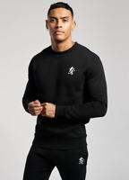 Mens Gym King Designer Black / White Crew Neck Sweatshirt Jumper Sweater Fashion