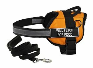 """No Pull Work Harness Ex-Sm """"Will Fetch for Food"""" (Support Pawster Parents)"""