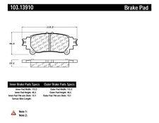 Ceramic Disc Brake Pad Set-C-TEK Ceramic Brake Pads Rear Centric 103.13910