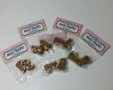 Macrame Maxi-Shapes By Maxi-Cord Wooden Teddy Bears Lot of 10 Beads