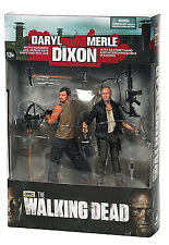 """AMC THE WALKING DEAD Collection_DARYL & MERLE DIXON 5"""" action figures_MIB_2 Pack"""