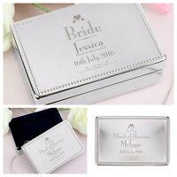 Personalised Wedding Jewellery Box - Bride Bridesmaid Mother of Groom Flowergirl