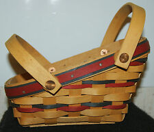 Longaberger 1996 Small Sleigh Yuletide Basket with divided Insert