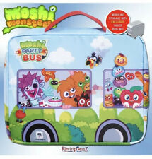 Moshi Monsters Party Bus Moshling Storage Carry Case inc Silver Busling Figure