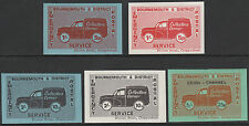 Gb (2327) - 1971 Postal Strike - Bournemouth & District label set of 5 u/m
