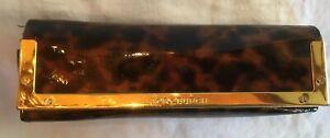 Tory Burch Leopard Print Sunglasses Eyeglasses Case Gold Magnet Clasp