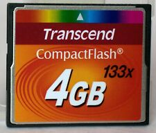 Transcend 4GB compact flash card including case, 133x speed.